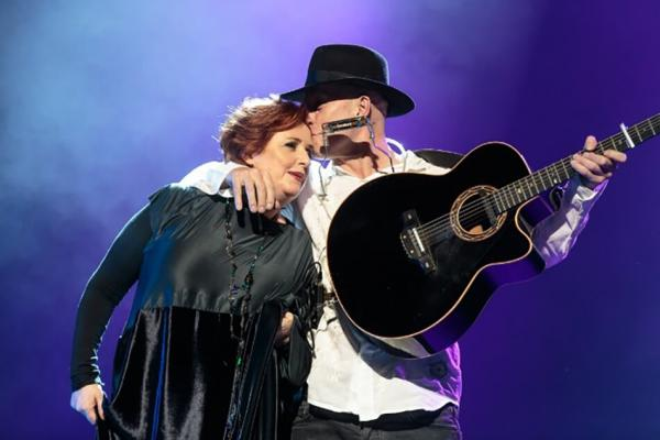 <p>Mary Coughlan and Vlado Kreslin.<br>Foto: Sandi Fišer</p>