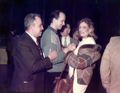<p>WIth Melina Mercouri, Athens 1983</p>