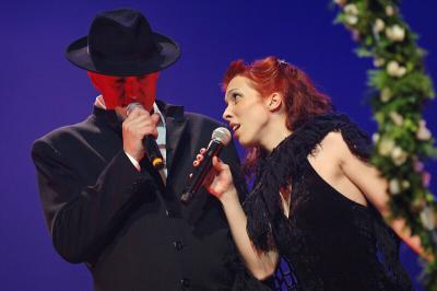 <p>Vesna Zornik (Katalena) and Vlado, Cankarjev dom,  February 2006<br>photo: Domen Groegl</p>